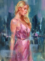 For a While I by Anna Razumovskaya - Original Painting on Stretched Canvas sized 18x24 inches. Available from Whitewall Galleries